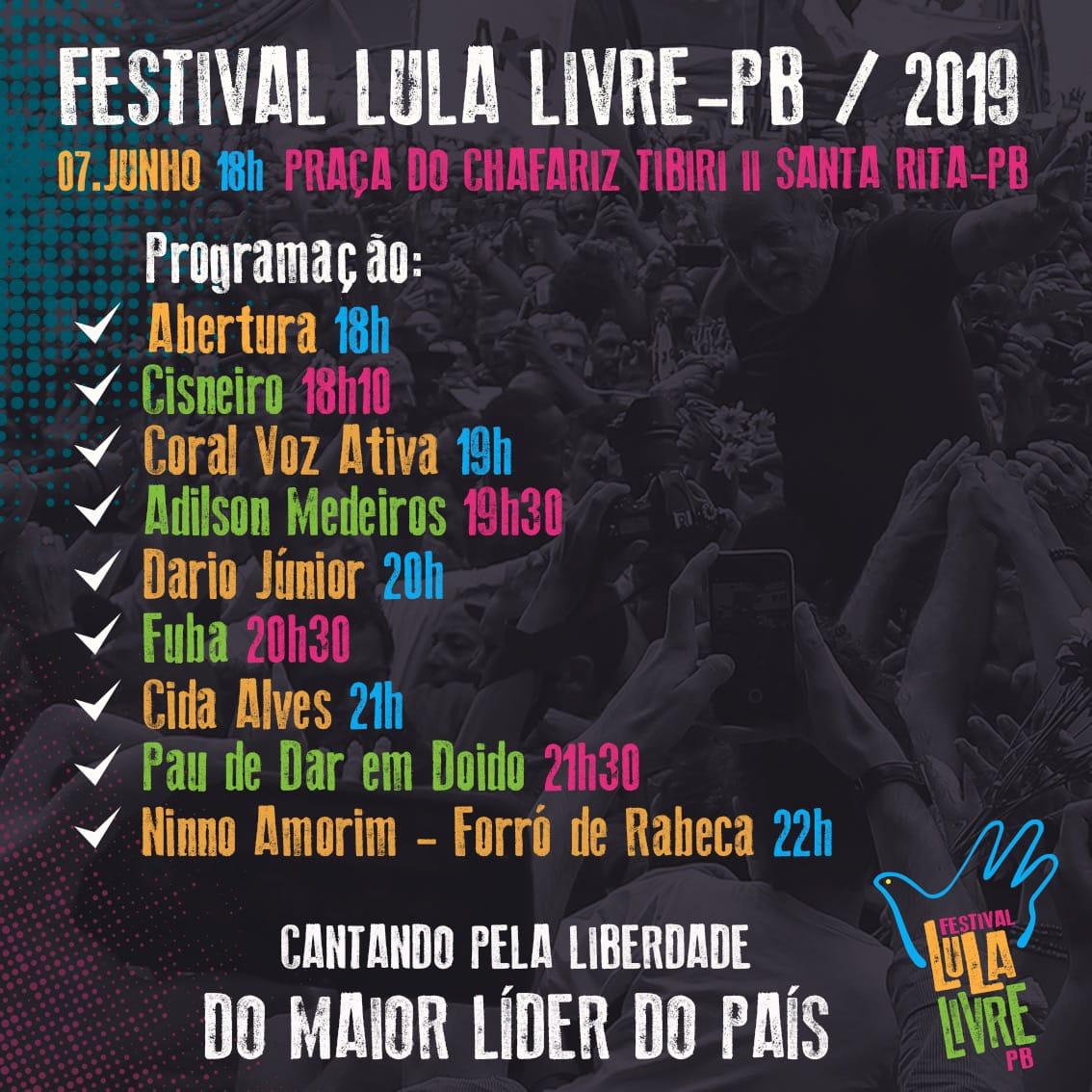 Evento do Comitê Lula Livre - Créditos: Card