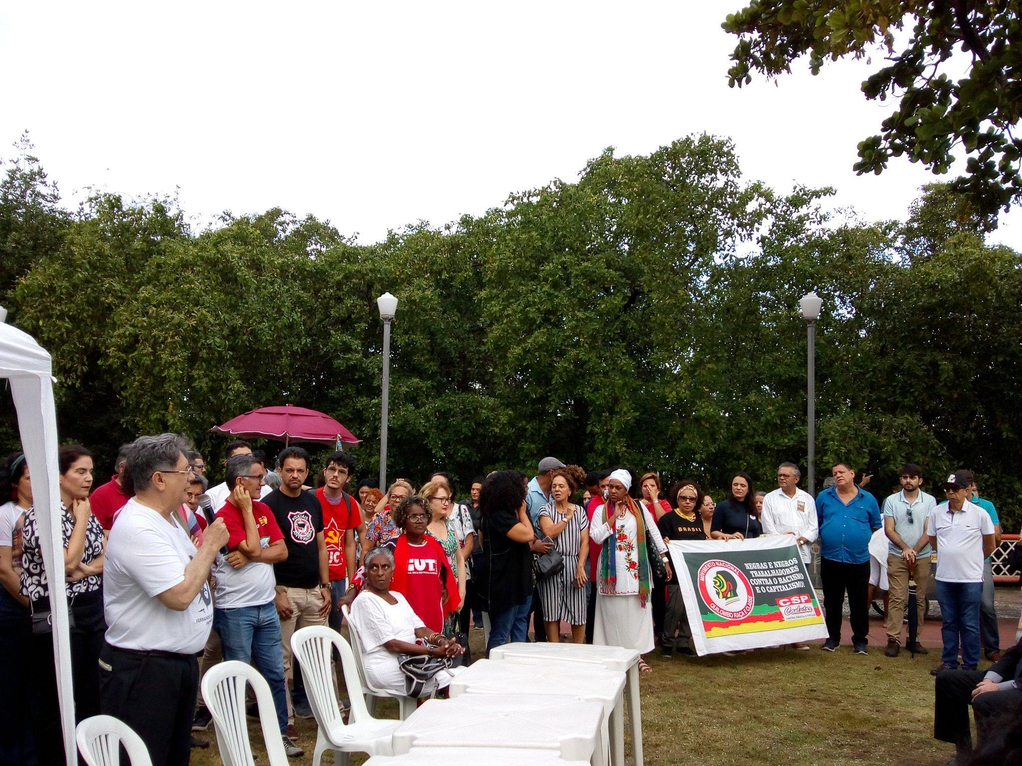 No ato, presidenta nacional do PCdoB disse ser provável que um pedido de impeachment de Bolsonaro seja protocolado em breve - Créditos: Brasil de Fato Pernambuco