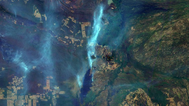 Wildfires scar Corumbá, the fourth most populous city in the Brazilian state of Mato Grosso do Sul - Créditos: Brazil's National Institute for Space Research (INPE)